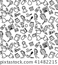 pattern background outline of variety kitchenware 41482215