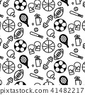 pattern background outline of variety sport 41482217