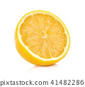 lemon isolated on white background 41482286