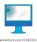 computer, display, vector 41482341