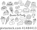 Sweets illustration set 41484413