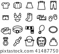 Simple outline of clothes set icon 41487750