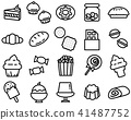 Simple outline of variety dessert icon 41487752
