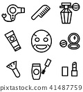 Simple outline of variety make up icon 41487759