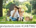 공원, 데이트, 커플 41487982