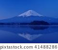 富士山 富士山颠倒投影 黎明 41488286