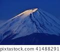 河口湖早春的富士山 41488291