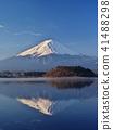 富士山 富士山颠倒投影 黎明 41488298