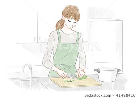女性做飯 41488416