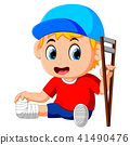 boy with broken leg 41490476
