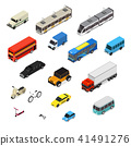 Transport Car 3d Icons Set Isometric View. Vector 41491276