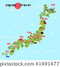 日本地圖地方旅行背景例證 41491477