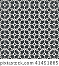 Lace line seamless abstract pattern monochrome 41491865