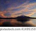 富士山 日落 夕阳 41495150