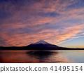 Yamanakako富士的日落光芒 41495154