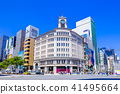Tokyo Ginza 4-chome intersection scenery 41495664