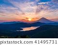 富士山 蘆之湖 晚景 41495731