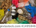 Closeup of waste on old wooden background.   41495846