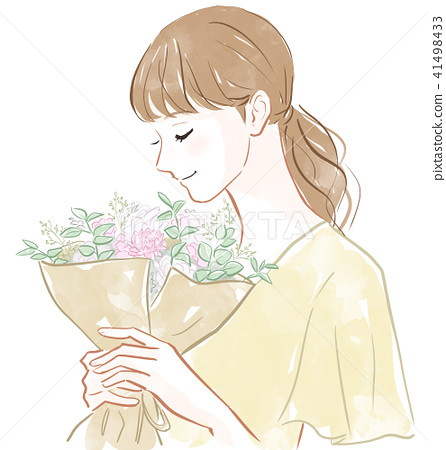 A woman with a bouquet 41498433
