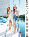 The children on board of sea yacht 41498669