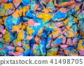 abstract background of the plane lying on colored stones 41498705