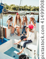 The children on board of sea yacht 41499908