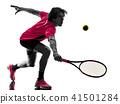 网球 侧影 剪影 41501284