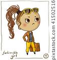 vector girl fashion 41502516
