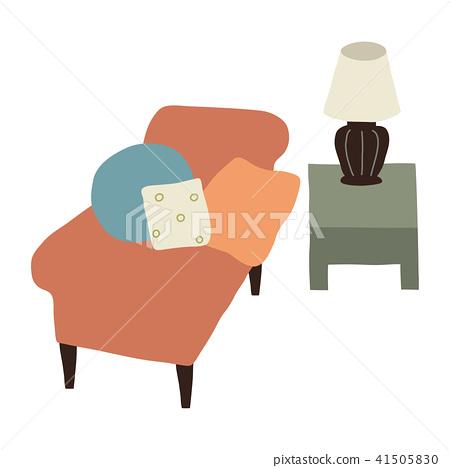 Interior sofa & side table 41505830