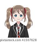 character, girl, vector 41507628