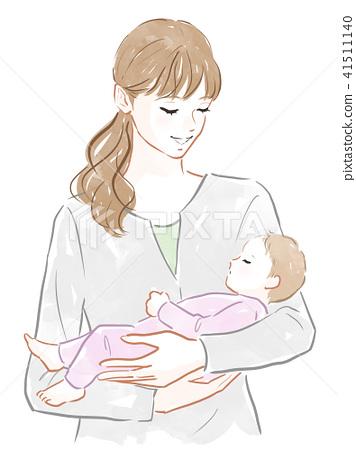 抱著嬰兒的女人 41511140