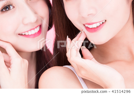 beauty women with dental care 41514296