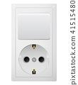 Electrical socket Type F with switch. Receptacle from Russia. 41515480