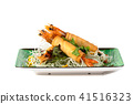 Fried Shrimps wrapped and crispy fried noodles 41516323