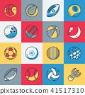 Sport balls icons set 41517310