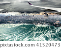 Nature disaster destroyed by Tsunami wave  41520473