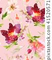 floral, flower, watercolor 41520571