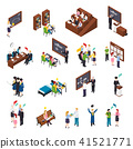 University Students Isometric Set 41521771