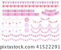 花環 聖誕裝飾 裝飾性的 41522291