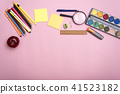 Copy space mockup template and school stationery. 41523182