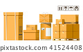 Carrying business with a variety of paper boxes.  41524408