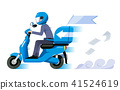 Super speed delivery everything service concept.  41524619