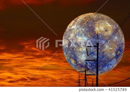Mar back on night cloud sunset sky silhouette 41525789