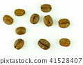 roasted coffee beans isolated on white background 41528407