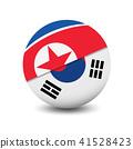 Flag of North Korea and South Korea, circle shape  41528423