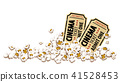 Cinema tickets for movie theater popcorn vector 41528453