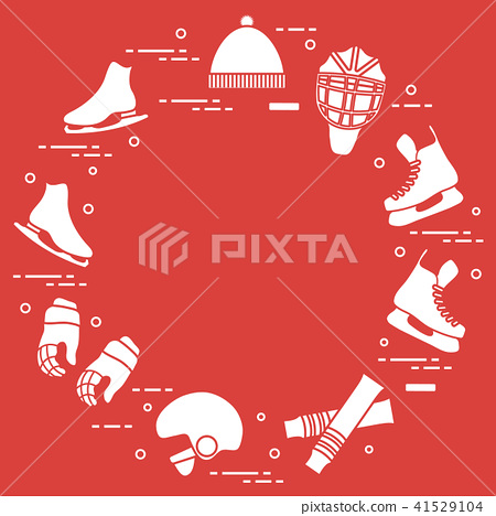 Figure skating and hockey elements 41529104