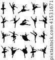 ballerina, ballet, silhouette 41531671