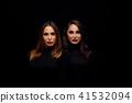 Beautiful girls twins 41532094