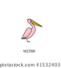 Pelican bird icon 41532403